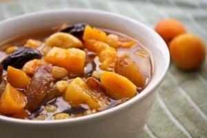Готовый суп из сухофруктов